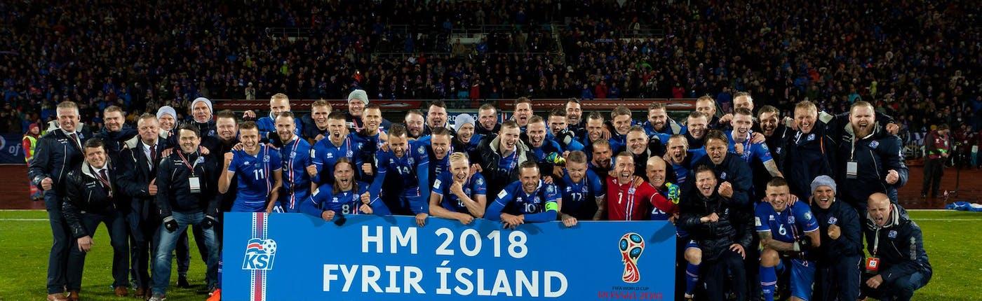 冰島國家足球隊獲得2018世界盃入場卷
