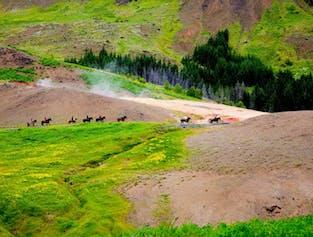Balade à cheval de 3h et phénomènes géothermiques