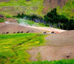 3-Hour Horse Riding & Hot Springs Tour