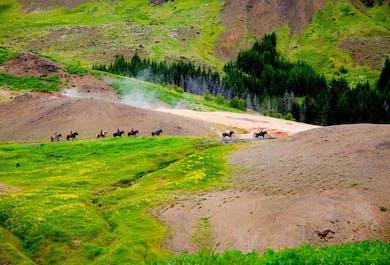 3-часовой тур верхом на лошадях по горячим источникам