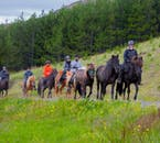 Overalls and helmets are provided for your horse riding tour.