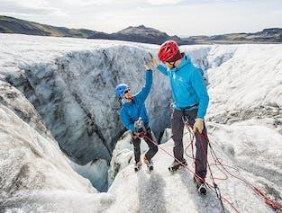 Randonnée et escalade sur glacier au Solheimajokull - 4 participants max