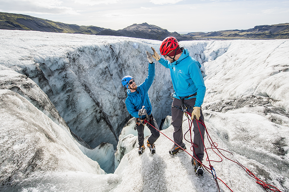 You will need special equipment to walk safely on the glaciers.