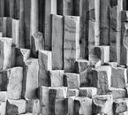 Hexagonal basalt columns are rare around the world but common in Iceland.