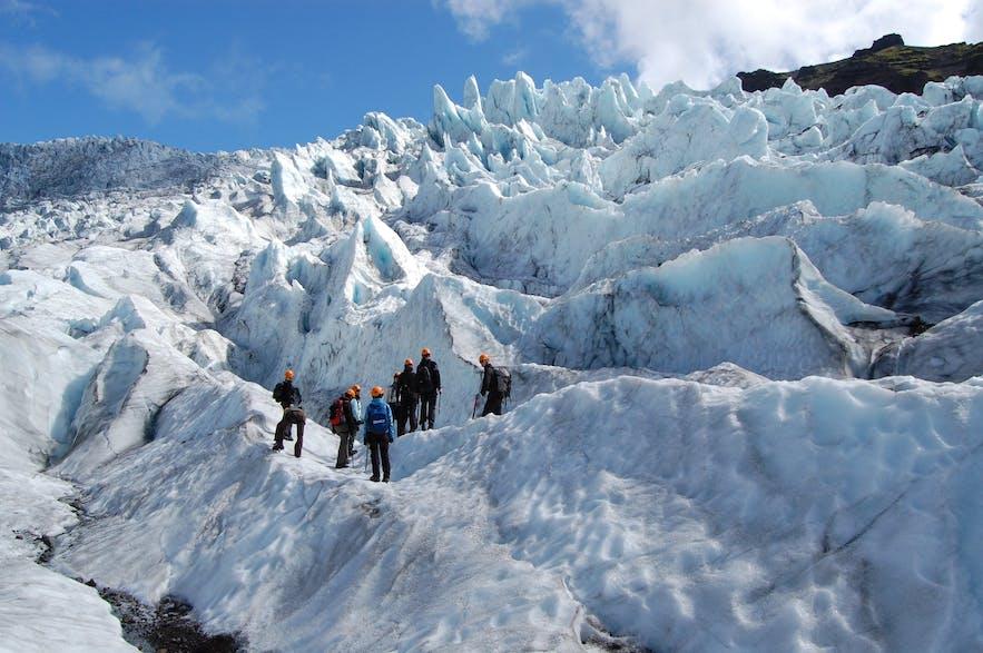 斯卡夫塔山冰川健行實景