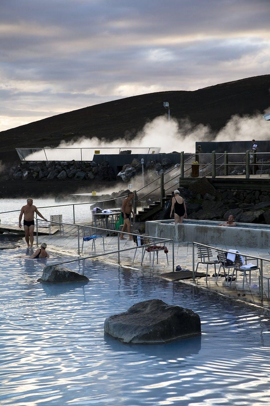 Les bains naturels de Mývatn sont les sources les plus populaires du Nord