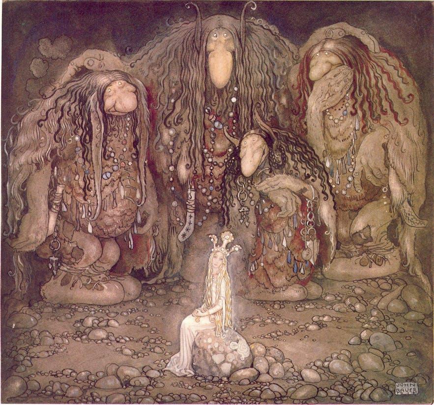 Une représentation des trolls d'Islande