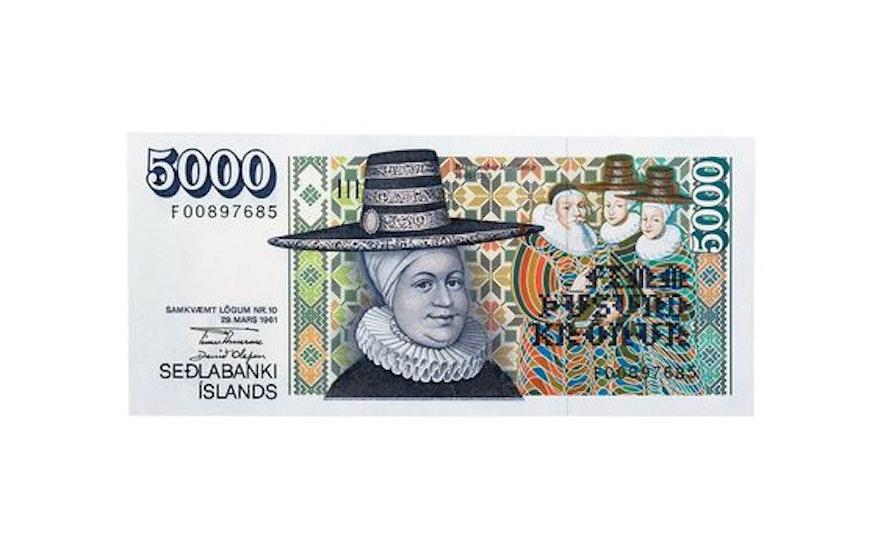 冰島的5000 紙幣被認為是世界最美的紙幣之一
