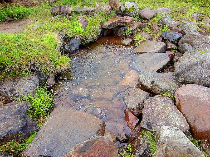 Natural mineral spring on Snæfellsnes peninsula in west Iceland