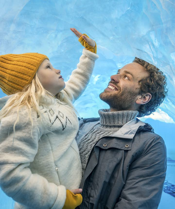 Hvis dit barn er for lille til en gletsjertur, er Perlan-udstillingen næsten lige så interessant!