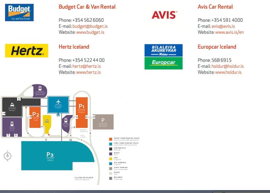 冰島機場內租車公司