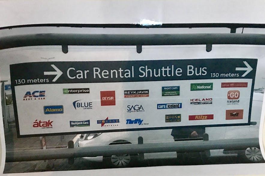 冰島租車公司接駁巴士Shuttle bus