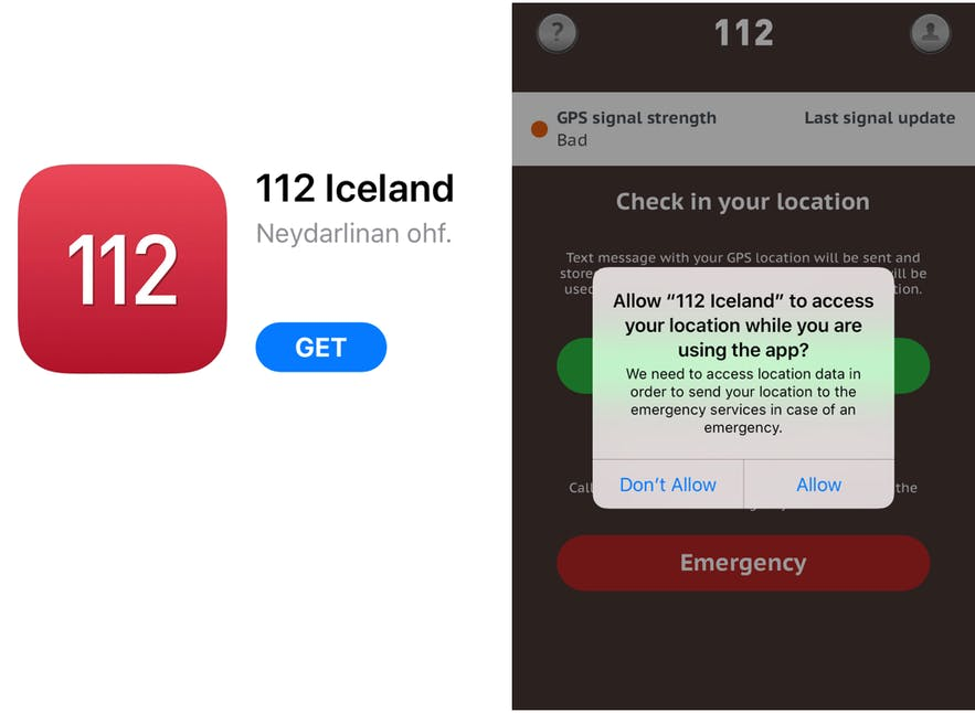 冰島報警 112 app