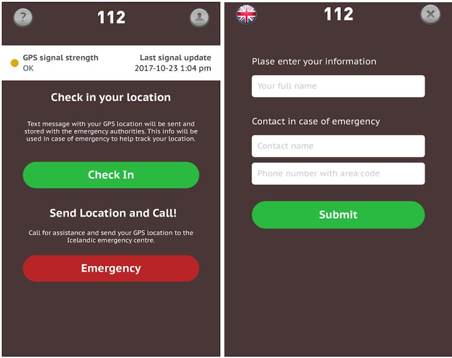 冰島緊急聯絡 app 112