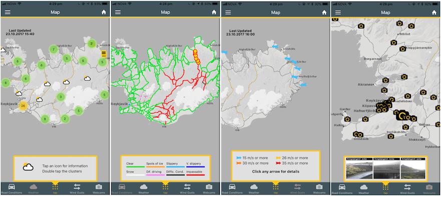 冰島自駕遊路況實用App