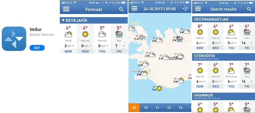 冰島Vedur App