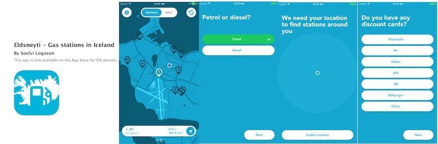 冰島油站App Eldsneyti