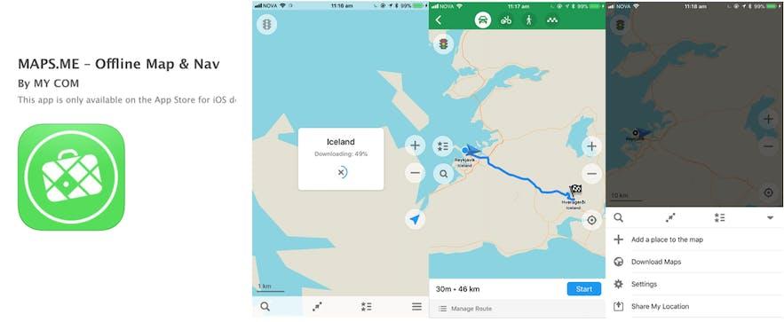冰島離線地圖 MapsMe