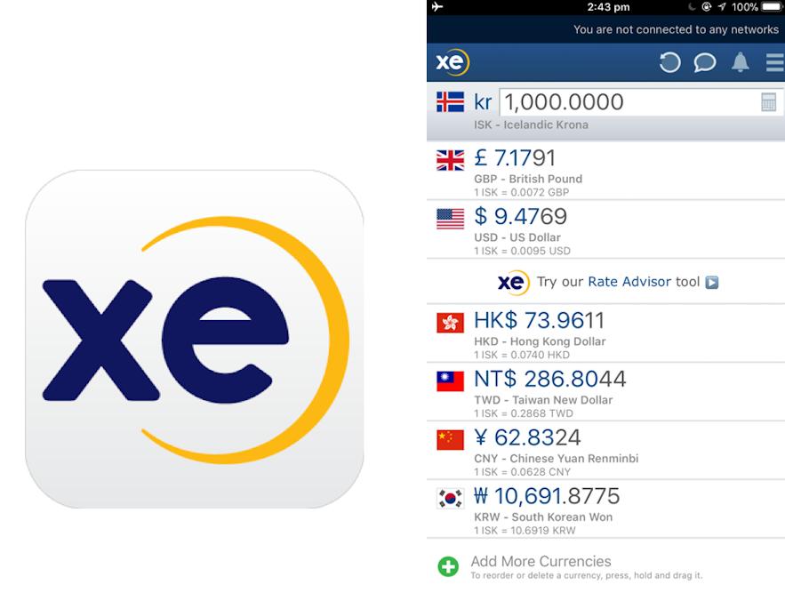 xe 匯率換算app