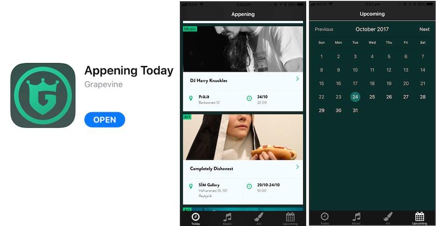 冰島Appening today app