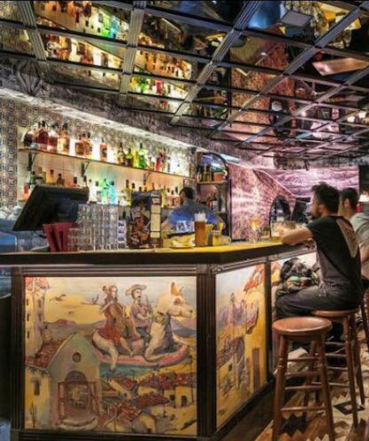 Het interieur van Pablo Discobar; luxueus!