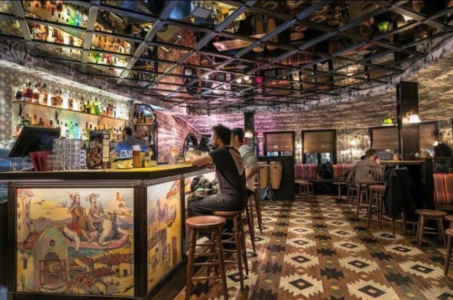 The interior of Pablo Discobar; fancy!