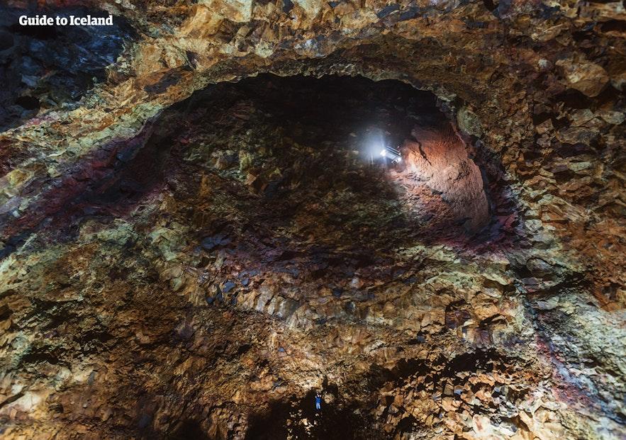 冰岛八月旅行火山内部