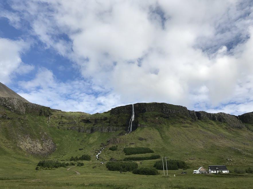 冰島西部小瀑布