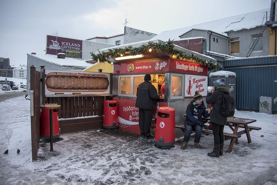 At the hot dog - or pylsur - stand, prepare for your meal to be drenched in delicious sauces