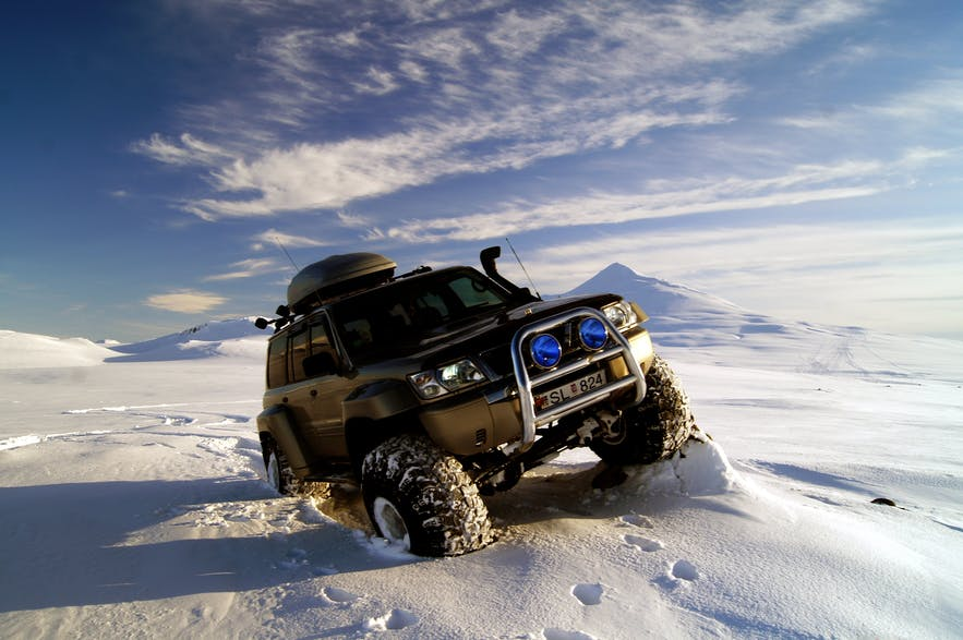 Only such vehicles can battle the terrain and snow