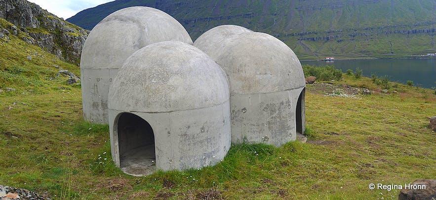 The strangely looking Sound Sculpture Tvísöngur in Seyðisfjörður in East-Iceland