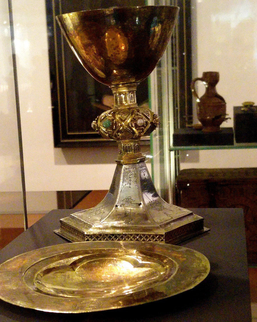 The chalice from Grundarkirkja - I took the photo at the National museum