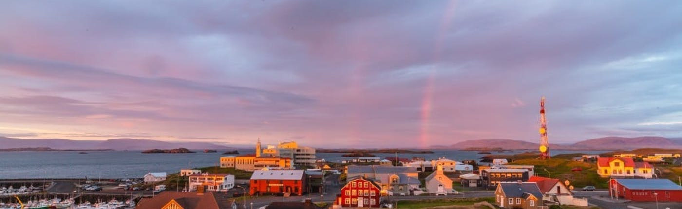 Stykkishólmur is the largest town on Snæfellsnes peninsula in West Iceland