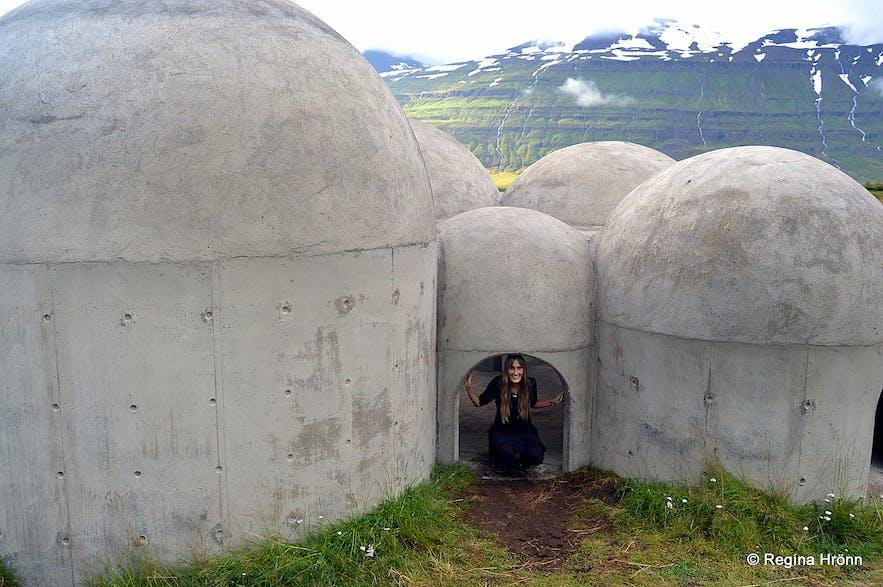 The Sound Sculpture Tvísöngur in Seyðisfjörður East-Iceland