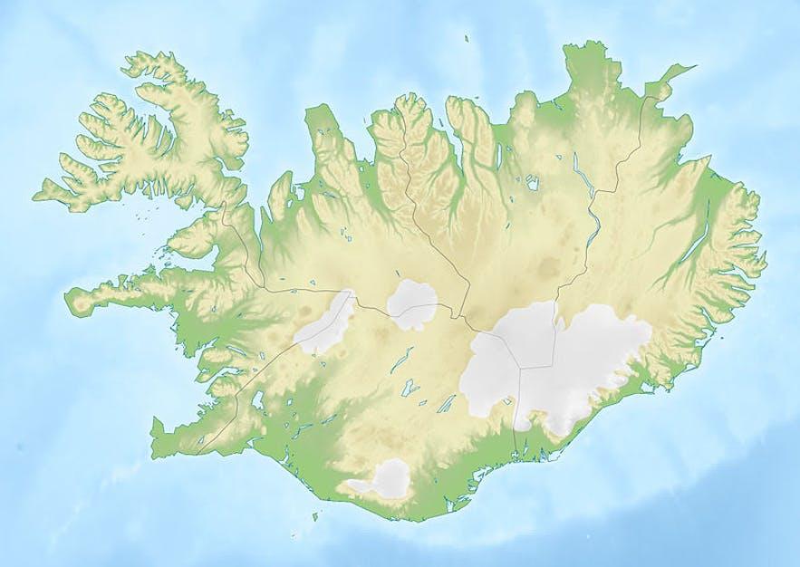 Remarquez la douceur de la côte sud par rapport au reste de la côte de l'île