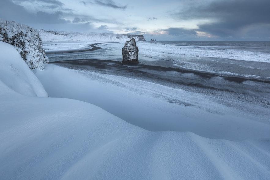 冬季冰島景色