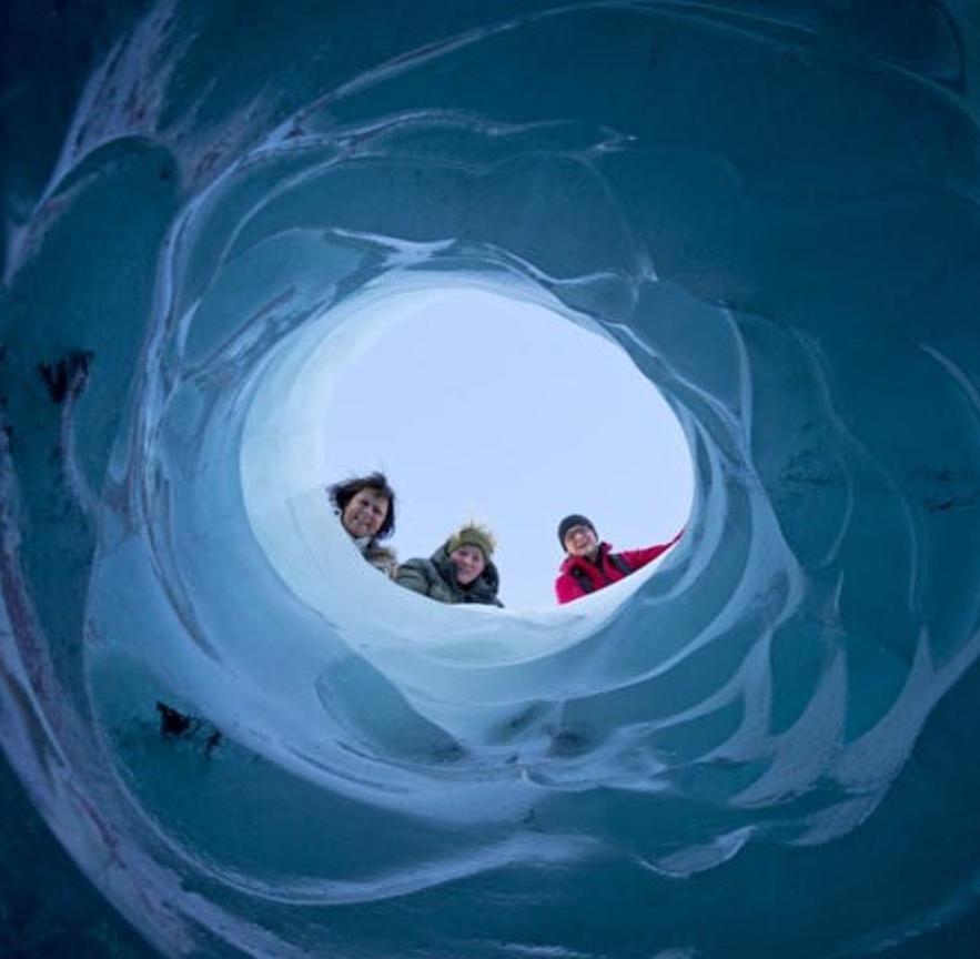冰島冬季冰川
