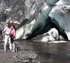 南海岸のプライベートツアーでは、氷河の近くにてフォトストップをします