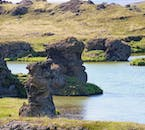 Everywhere you look at Lake Mývatn in North Iceland there are fascinating landscapes and rock formations.