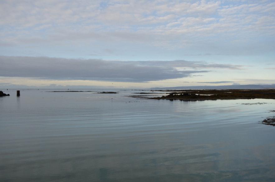 静かな静かなアイスランドの海
