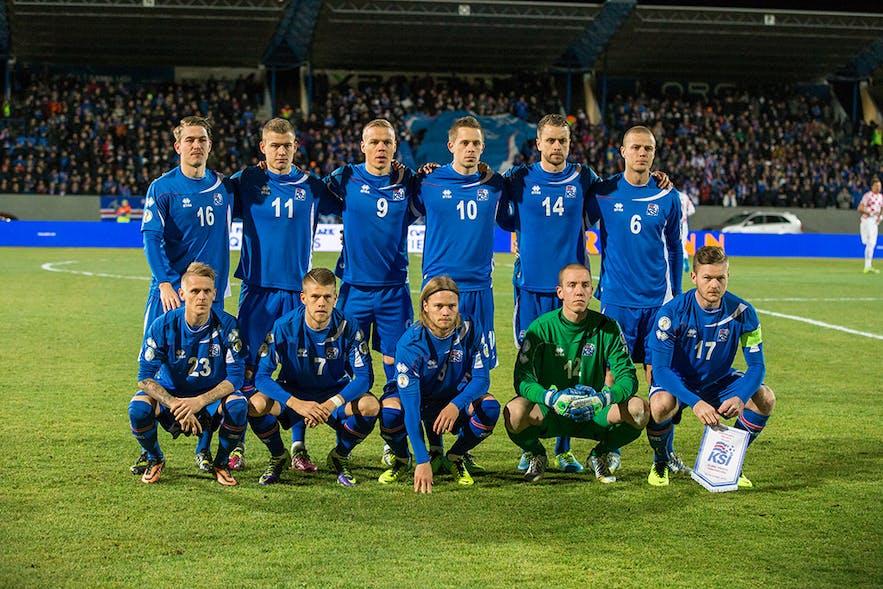 Eleven men, nine braincells. Image by UEFA.