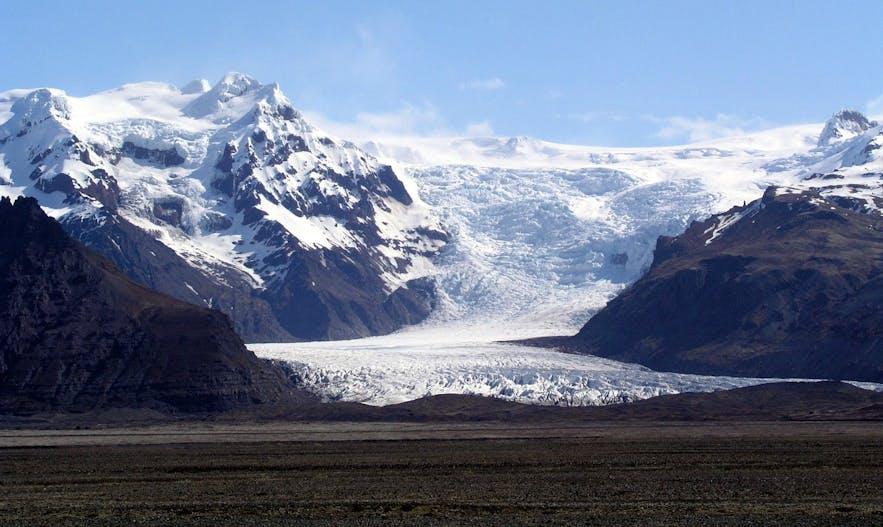 Lodowiec Vatnajokull na południu Islandii.