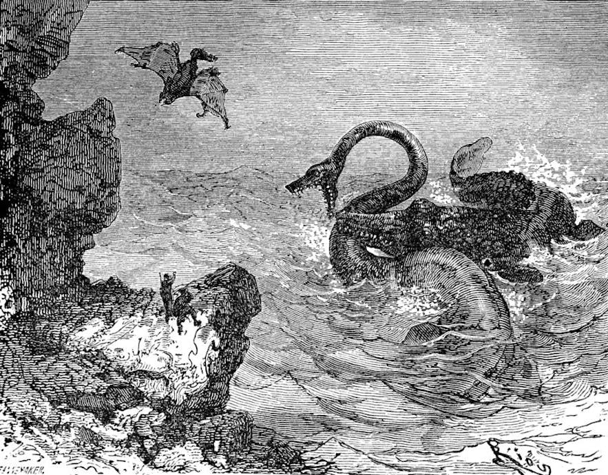 The world beneath of Snæfellsjökull is, according Jules Verne, filled with strange creatures and underground seas.
