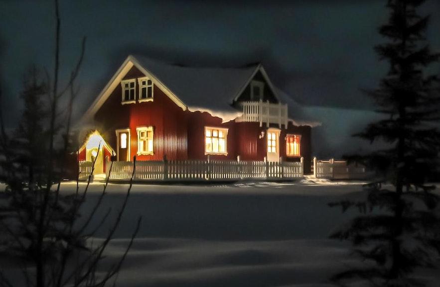 Knarrarholt, en af de mange islandske hytter, der er tilgængelige på bungalo.com