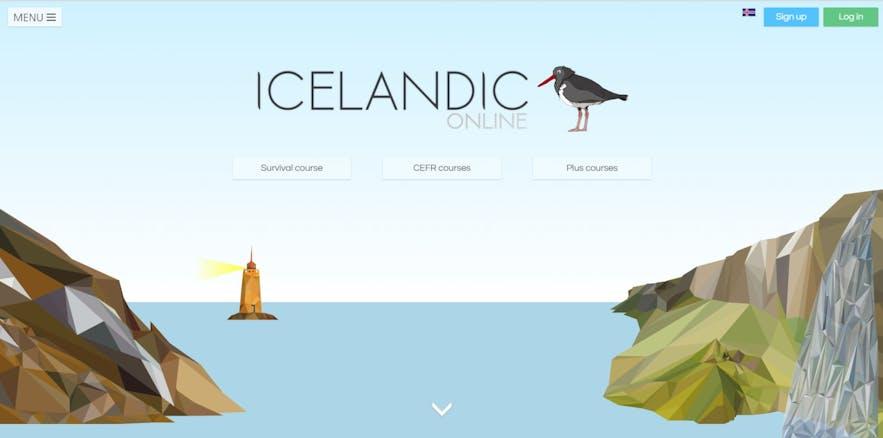 IcelandicOnlineのウェブサイト