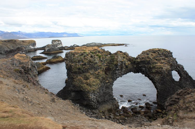 Basalt grottoes on south shore of Snaefellsnes peninsula