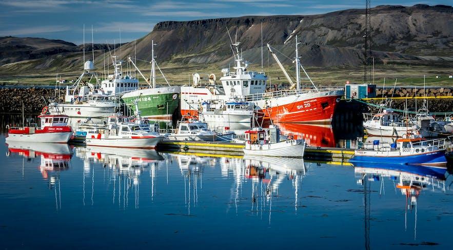 Fishing boats at Grundafjörður