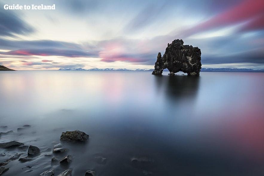 아이슬란드 북부의 크비트세르퀴르