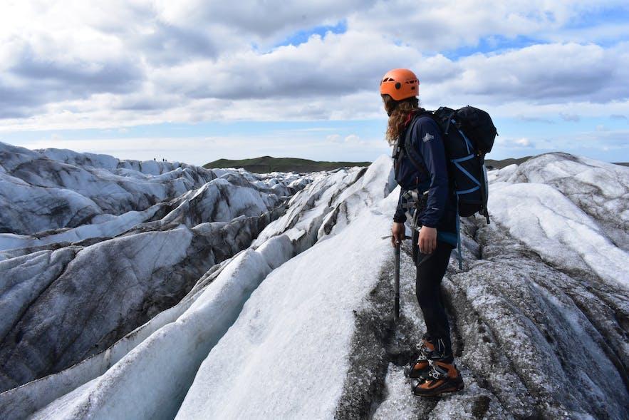 冰川徒步是一年四季都适合参加的冰岛特色户外项目