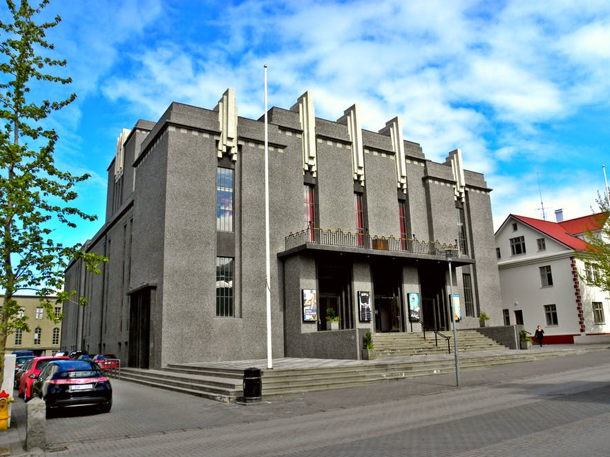 Þjóðleikhúsið National Theater is but one of many historical buildings at Hverfisgata